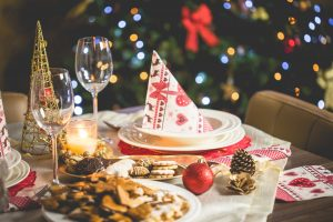 Dining table, Christmas